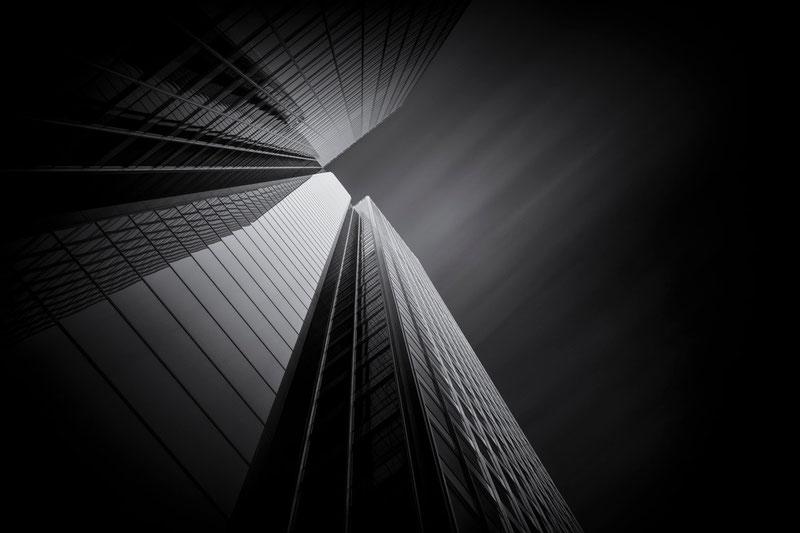 DZ Bank - Frankfurt (Copyright Martin Schmidt, Fotograf für Schwarz-Weiß Fine-Art Architektur- und Landschaftsfotografie aus Nürnberg)
