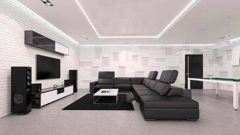 Bild einer Soundanlage in Wohnzimmer