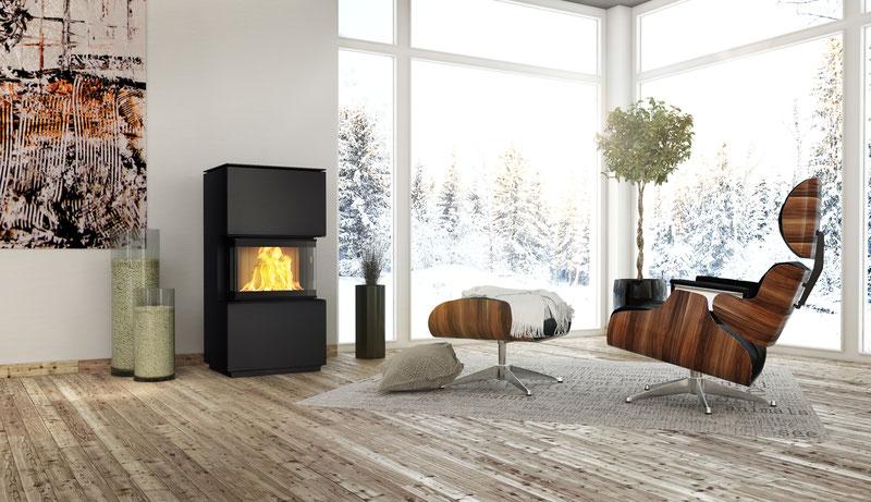 stromloser pelletofen koppe pinto ofenhaus mainspitze. Black Bedroom Furniture Sets. Home Design Ideas
