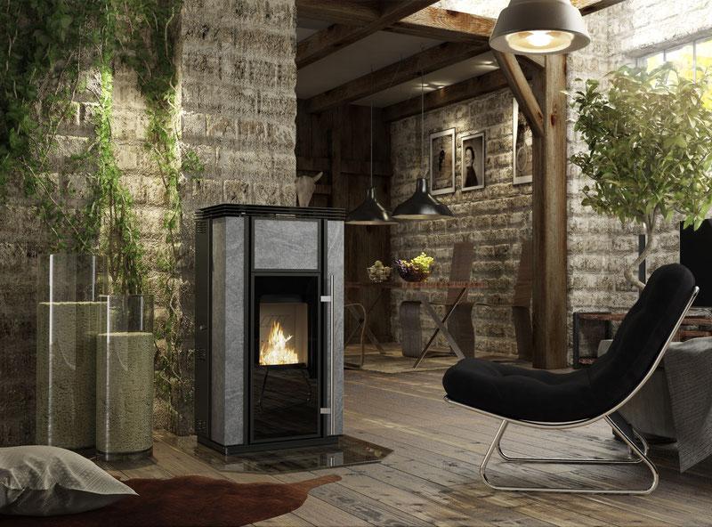 stromloser pelletofen koppe symio ofenhaus mainspitze. Black Bedroom Furniture Sets. Home Design Ideas