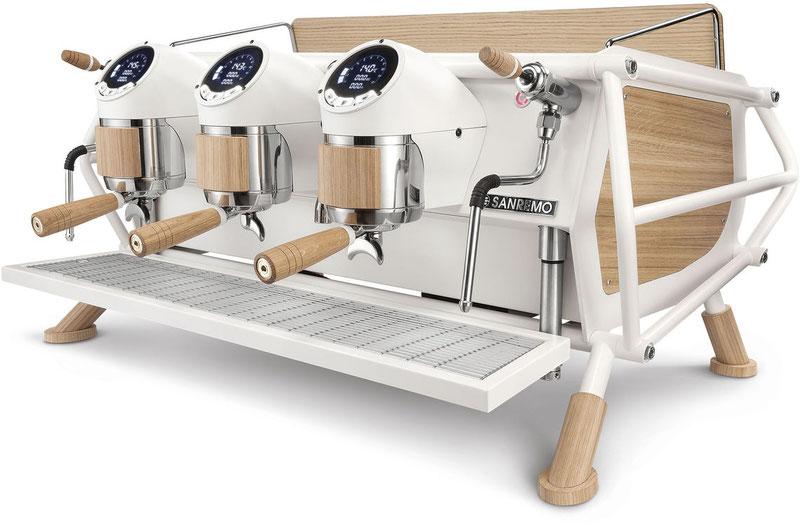 Sanremo  Siebträgermaschine Café Racer White & Wood Standard