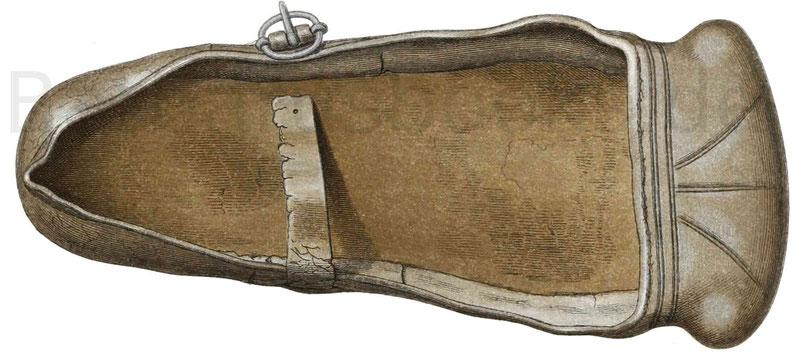 Schuh aus der ersten Hälfte des 16. Jahrhunderts