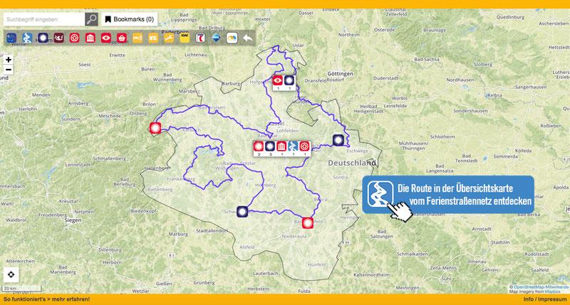 Die NordHessen Route in Karte entdecken!