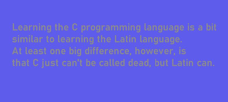 Vergleich des Lernens der Programmiersprache C mit Latein