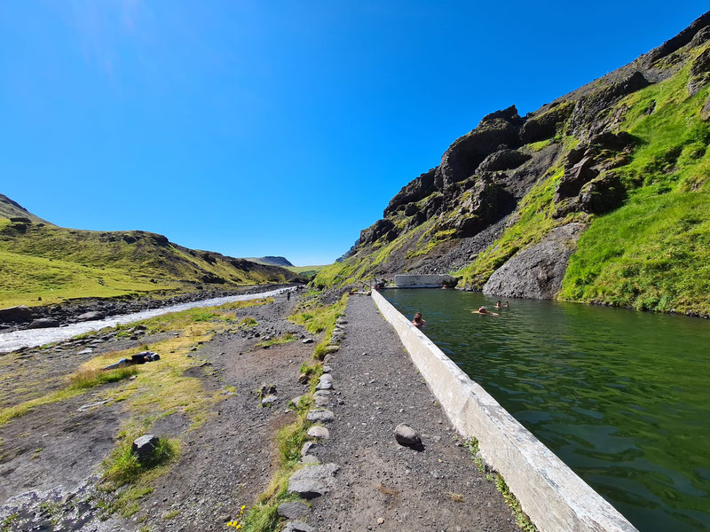 13 Days in Iceland - Seljavallalaug Swimming Pool