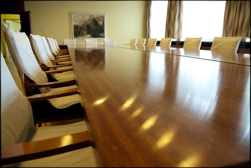 Geräumig: Mielkes großer Konferenzsaal für die tägliche Lagebesprechung mit seinen MfS-Generälen