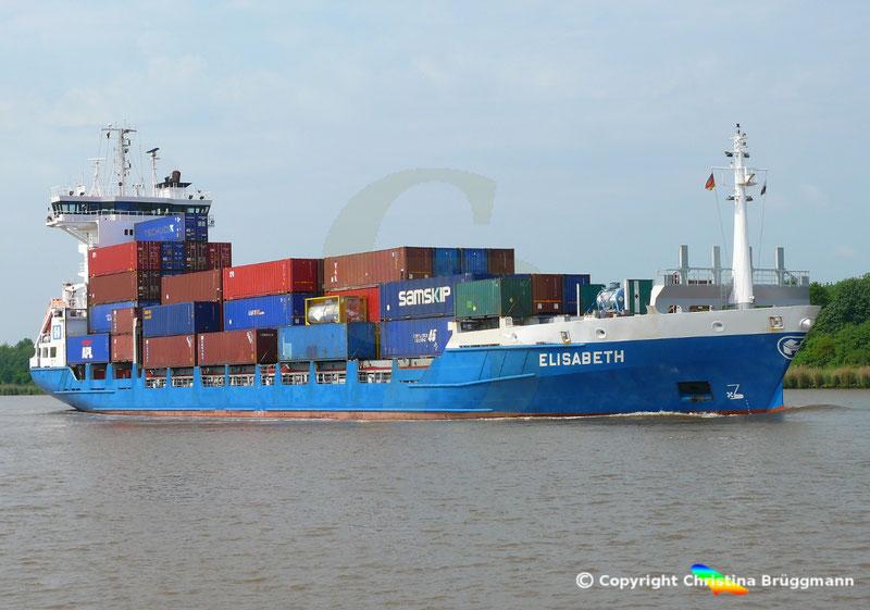 Feeder Containerschiff ELISABETH