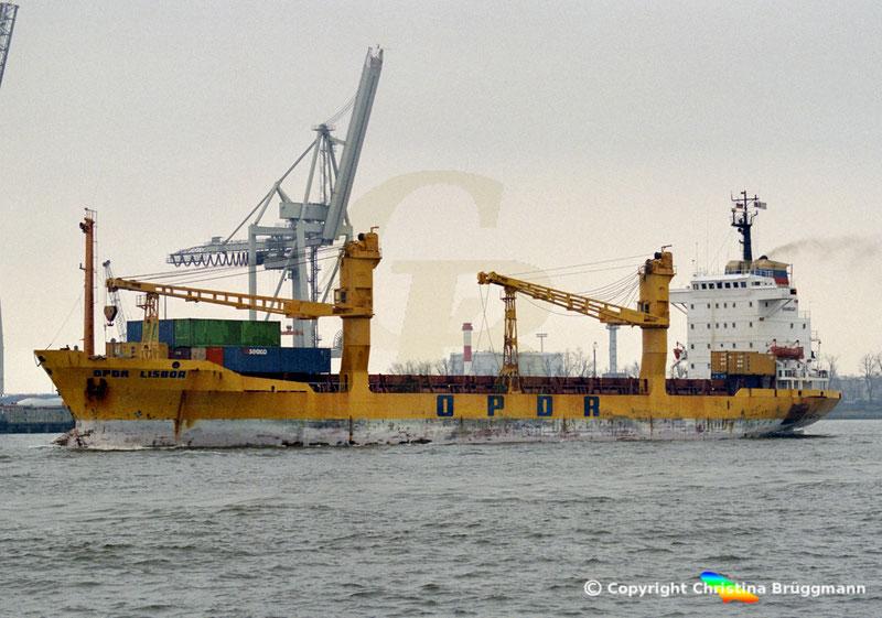Containerschiff OPDR LISBOA, Hamburg 2001