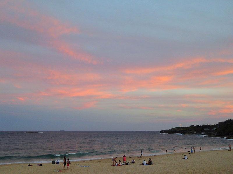 Sonnenuntergang Coogee Beach, NSW, Australien