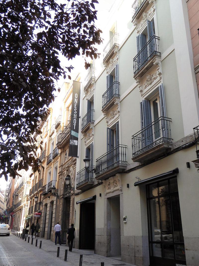 Das kleine Hotel One Shot Prado 23 in der Calle Prado, Madrid. Toll für Alleinreisende.