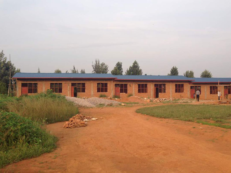 Schulbau in Ngenda in dem Gebiet von Bugesera