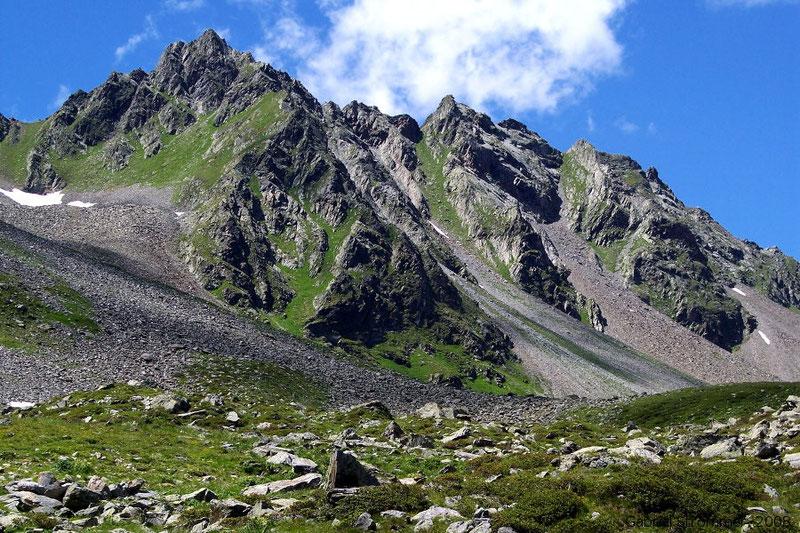 Blick von der Lasörlinghütte im Mullitztal auf das Tögischer Bockshorn