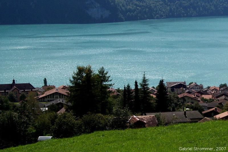 Der Brienzer See in der Schweiz