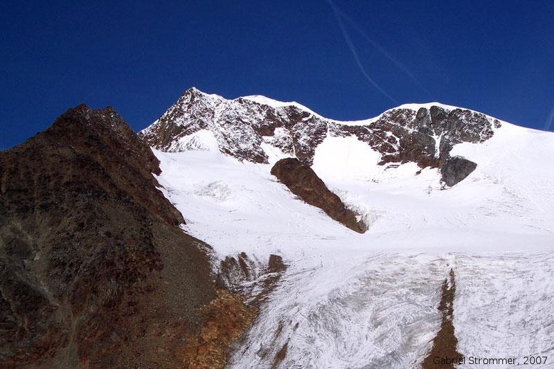 Die Wildspitze (3768 m) vom Wilden Mannle (3023 m) aus gesehen