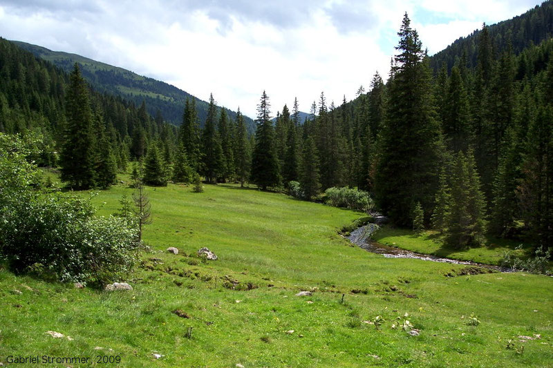 Tal nahe Bundschuh in den Nockbergen 2009