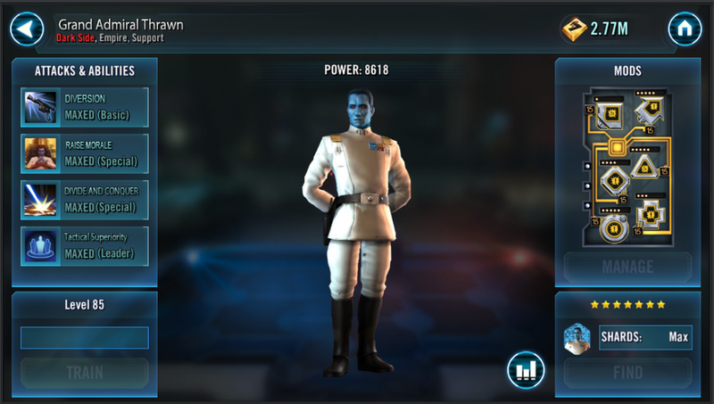 MUST HAVE CHArActers - SWGOH-Tipps & Tricks | Mod Guide and Squads