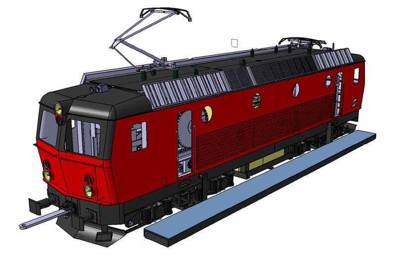 3D-Modell meiner Gartenbahn-Lokomotive in Spur 5 Zoll, das mit dem CAD Programm Catia V5 erstellt wurde