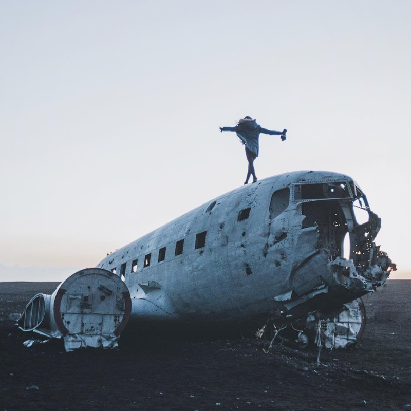 The DC 3 Plane at Sólheimasandur Iceland. Instagram photo credit: @twoofolks