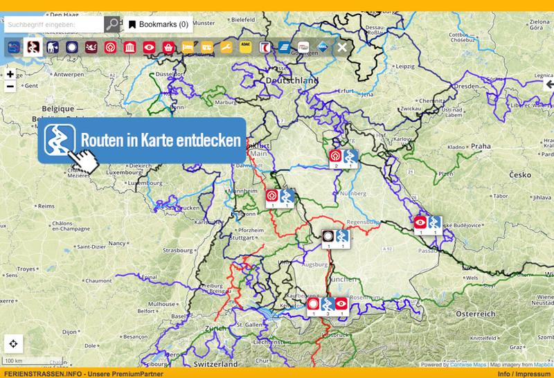 Die Routen in Bayern in Karte entdecken!