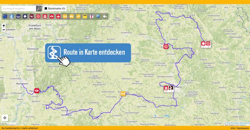 Die Burgenstraße in Karte entdecken!