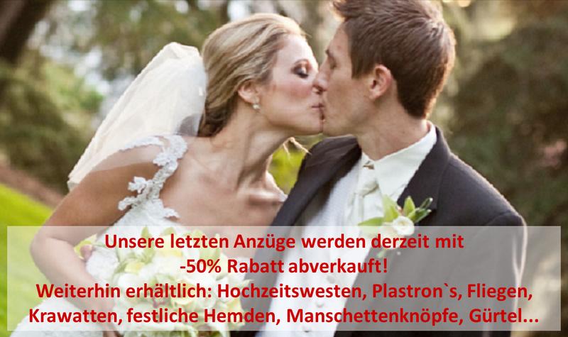 romantisches Brautpaar im Freien mit Brautstrauß / Mode für Braut und Bräutigam Essen GmbH