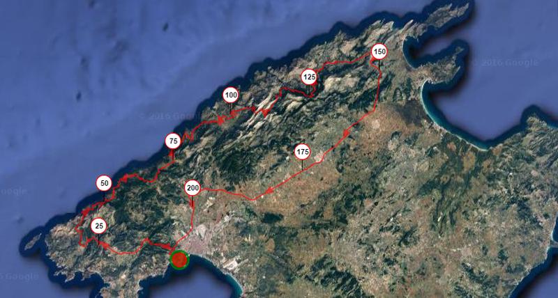 Openrunner Brevet 200 2016 MallorcaUltracycling