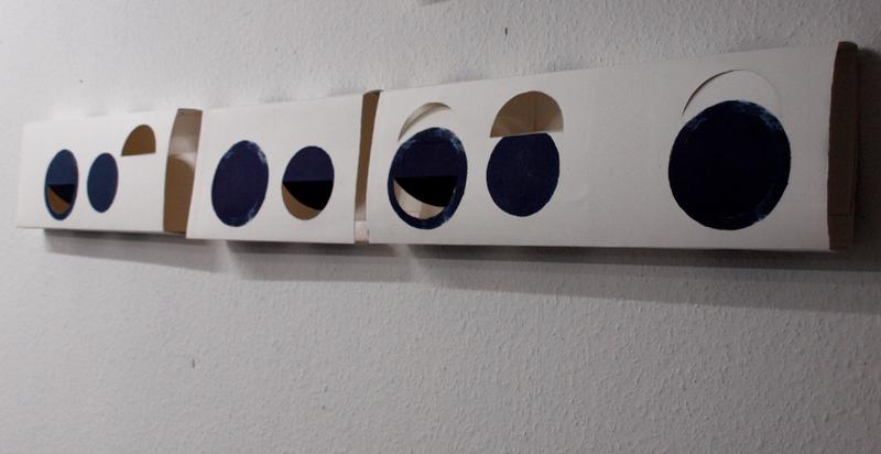 Papierobjekte aus Lithographien, 2018; Micha Hartmann aus Esslingen bei Stuttgart