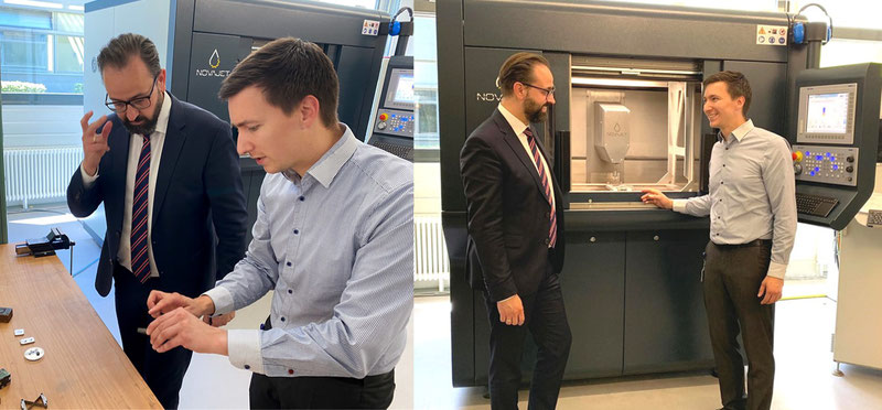 Staatsminister Sebastian Gemkow zu Besuch bei NOVAJET. Fotos: SMWK, Joseph Heß