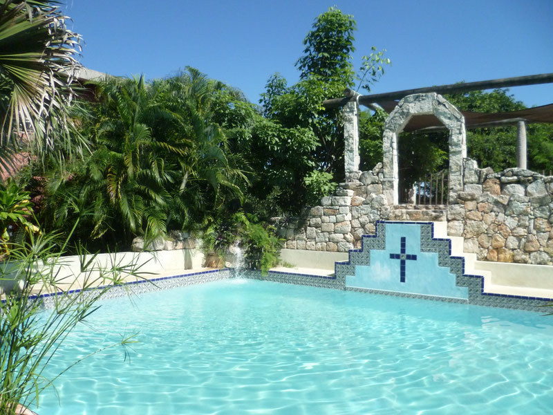 Maya pool at  Hotel Santo Domingo