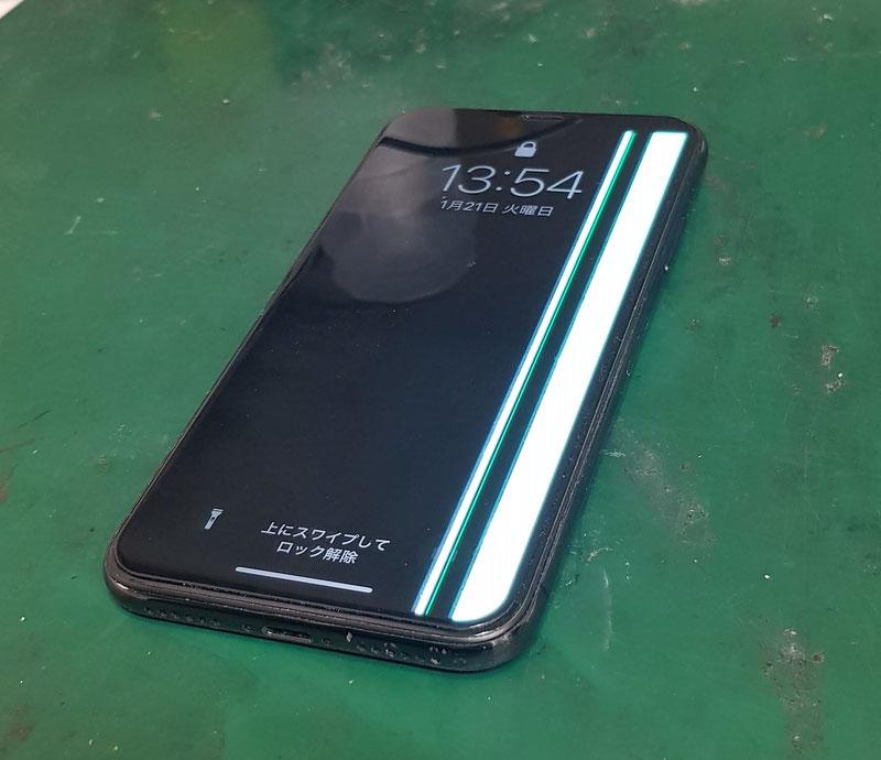 iPhoneX液晶表示不良の修理