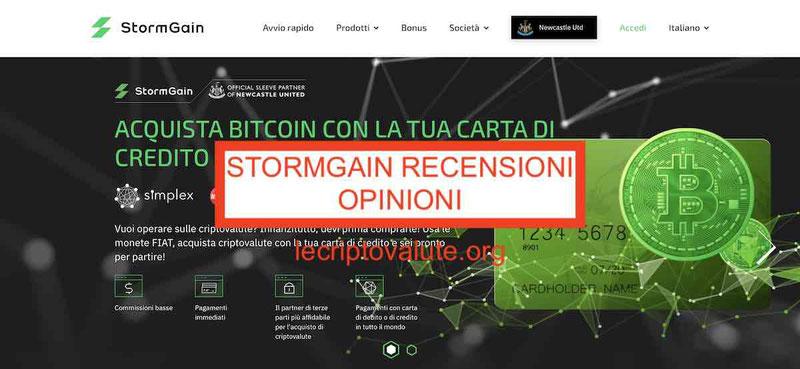 ▷ StormGain recensioni opinioni alternative trading con leva