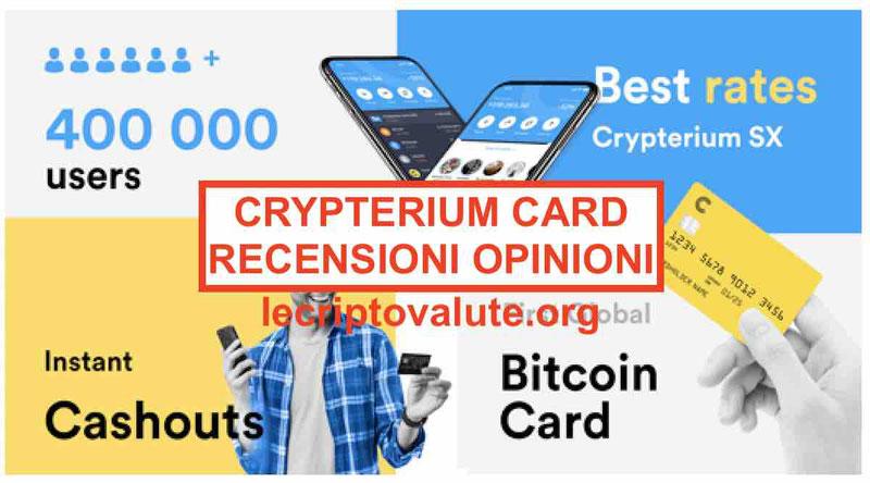 Crypterium Card recensioni opinioni, piani, come funziona[2019]