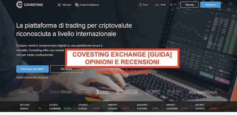 Covesting COV Exchange Criptovalute opinioni e recensioni Guida 2019