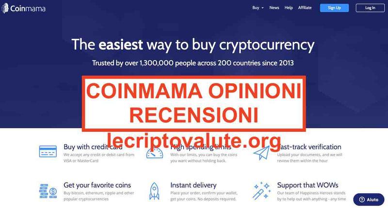 Coinmama opinioni recensioni exchange criptovalute: legale o truffa