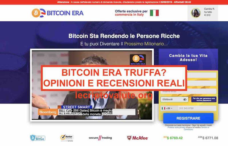Bitcoin Era truffa o funziona? Opinioni e recensioni reali