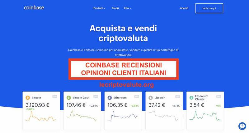 Coinbase Italia recensioni pro opinioni: è sicuro guida completa