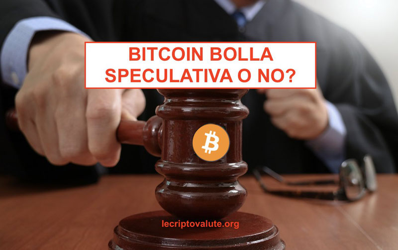 bitcoin bolla speculativa o no