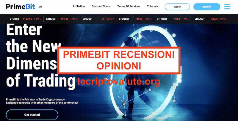PrimeBit recensioni opinioni P2P Exchange derivati