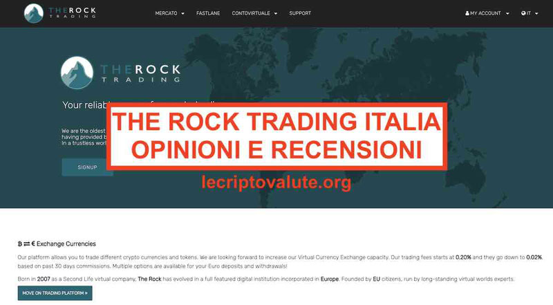 The Rock Trading Italia opinioni e recensioni Bitcoin: [Guida 2019]