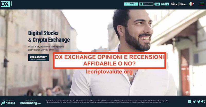 DX Exchange funziona o truffa Piattaforma cripto-azioni recensioni