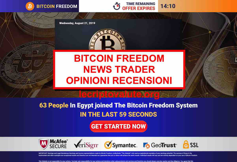 Bitcoin Formula truffa o Bitcoin news trader? Opinioni recensioni