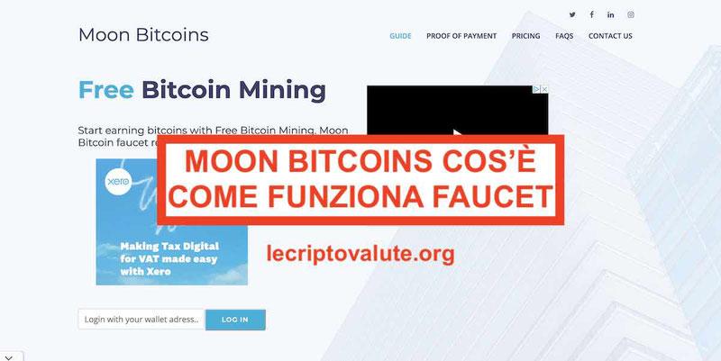 Moon Bitcoin faucet cos'è e come funziona (Guida 2019)