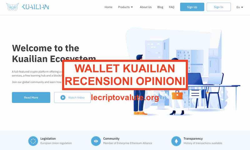 Wallet Kuailian recensioni opinioni truffa Cos'è e come funziona