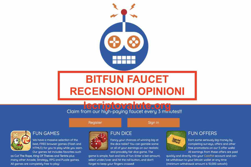 BitFun Faucet recensioni opinioni BTC gratis Pro e Contro