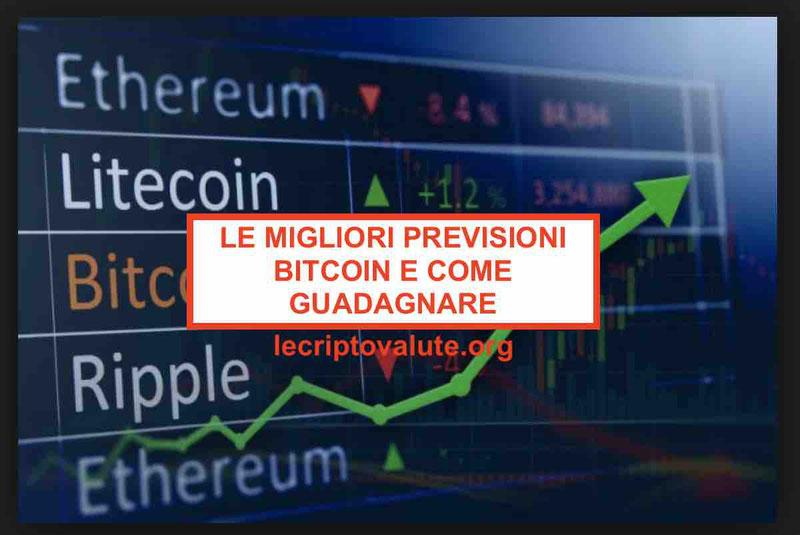 Previsioni Bitcoin 2019 - 2020 - 2021  le migliori e come guadagnare