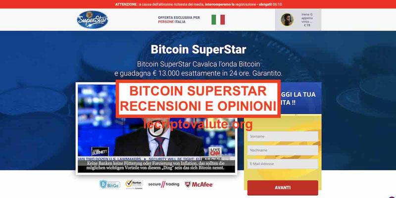 Bitcoin SuperStar truffa [Recensioni e opinioni reali]