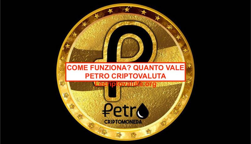 petro venezuela criptovaluta come funziona