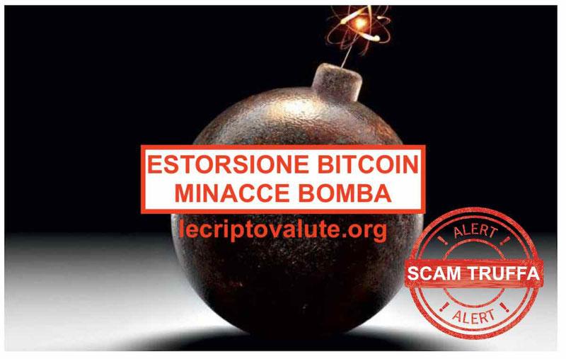 Estorsione Bitcoin mail ricatto: minacce bomba in tutto il mondo
