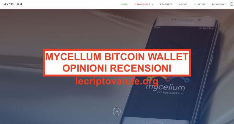 MyCelium Bitcoin Wallet italiano recensioni opinioni commissioni