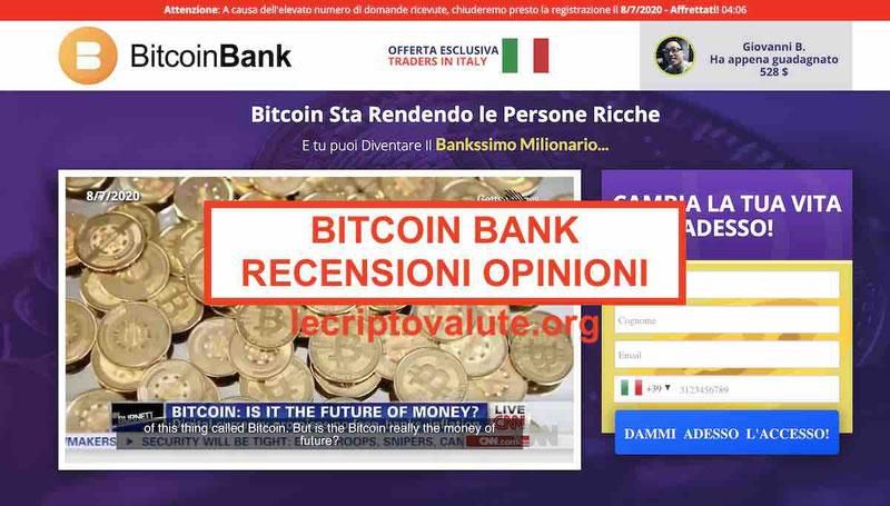 Bitcoin Bank recensioni opinioni funziona o truffa